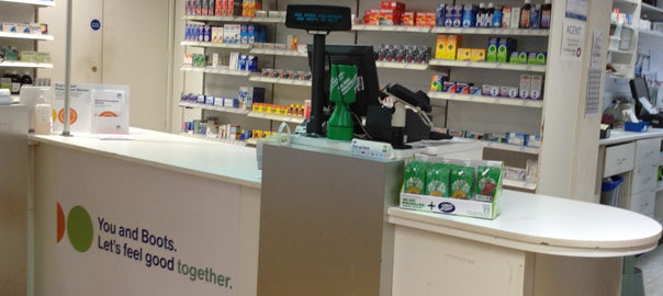 picture of Boots the chemist counter
